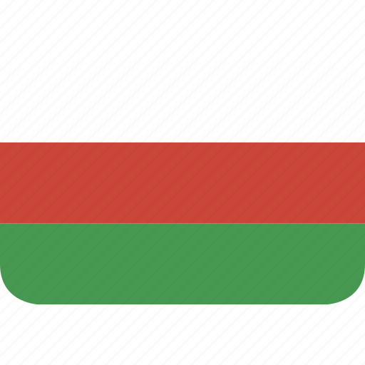 bulgaria, rectangle, round icon