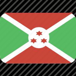 burundi, rectangle, round icon