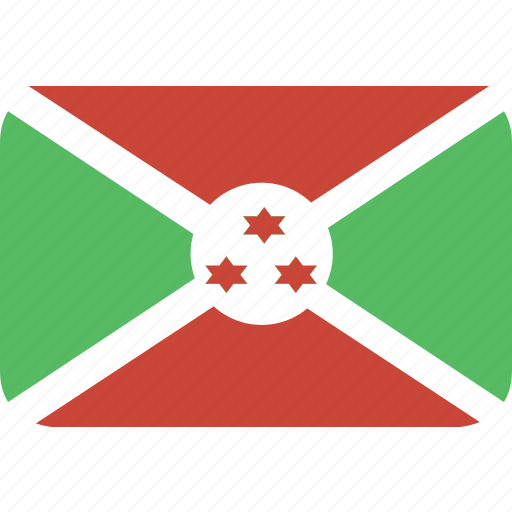 burundi, rectangle, round icon