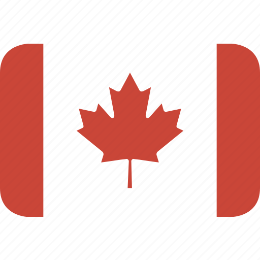 canada, rectangle, round icon