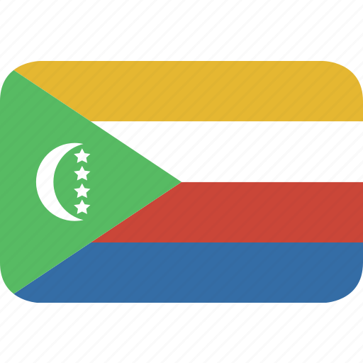 comoros, rectangle, round icon