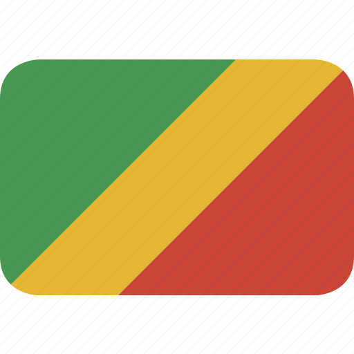 congo, rectangle, round icon