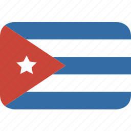 cuba, rectangle, round icon