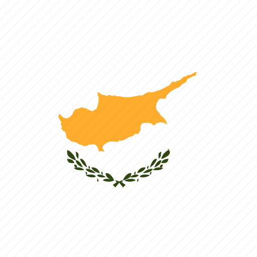 cyprus, rectangle, round icon