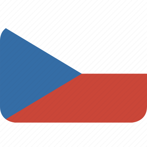 czech, rectangle, republic, round icon