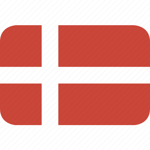 denmark, rectangle, round icon