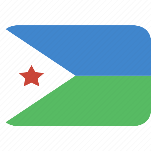 djibouti, rectangle, round icon