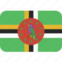 dominica, rectangle, round icon