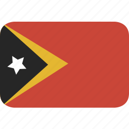 east, rectangle, round, timor icon