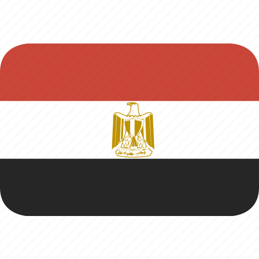 egypt, rectangle, round icon