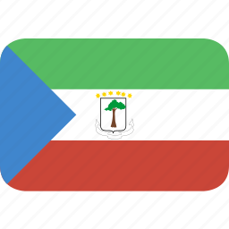 equatorial, guinea, rectangle, round icon
