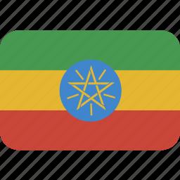 ethiopia, rectangle, round icon