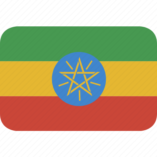ethiopia, rectangle, round icon