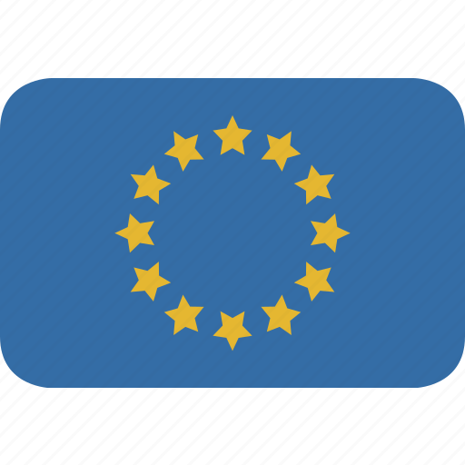 europe, rectangle, round icon