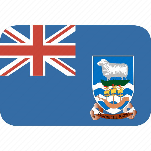 falkland, islands, rectangle, round icon