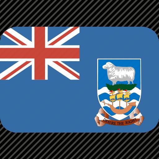 falkland, islands, rectangle, round icon