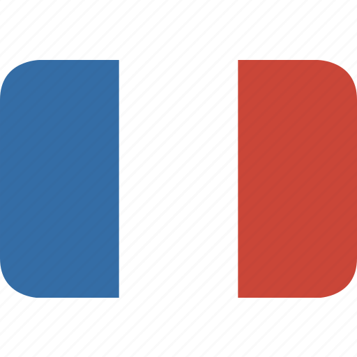 france, rectangle, round icon