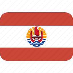 french, polynesia, rectangle, round icon