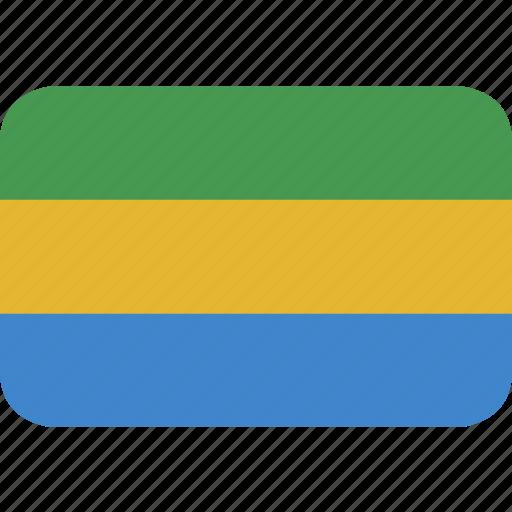 gabon, gabonese, rectangle, republic, round icon