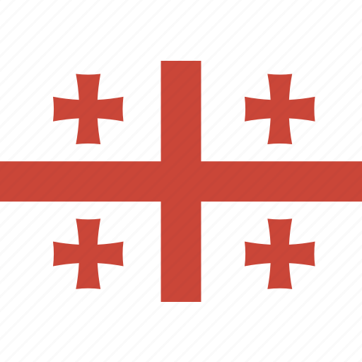 georgia, rectangle, round icon