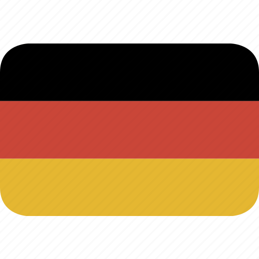 germany, rectangle, round icon