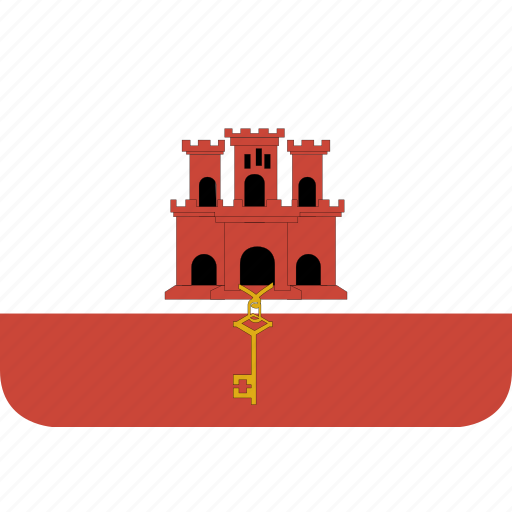 gibraltar, rectangle, round icon