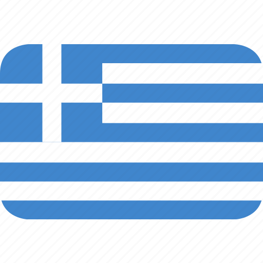 greece, rectangle, round icon