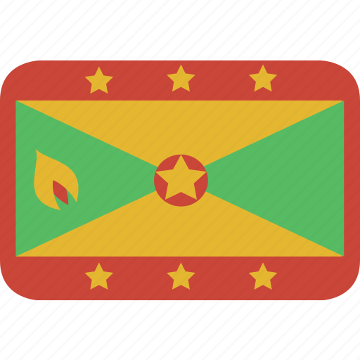 grenada, rectangle, round icon