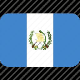 guatemala, rectangle, round icon