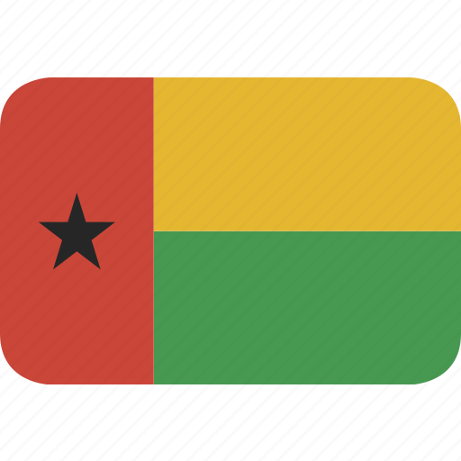 bissau, guinea, rectangle, round icon