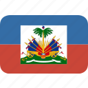haiti, rectangle, round icon