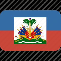haiti, rectangle, round icon