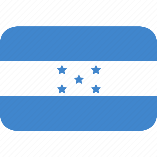 honduras, rectangle, round icon
