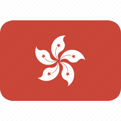 hongkong, rectangle, round icon