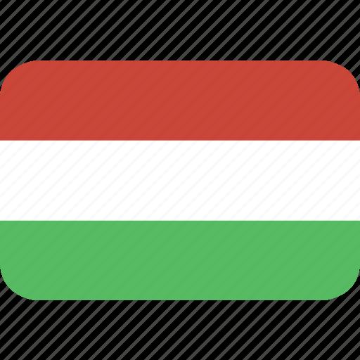 hungaria, rectangle, round icon
