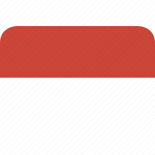 indonesia, rectangle, round icon