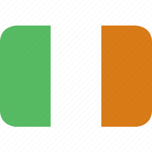 ireland, rectangle, round icon