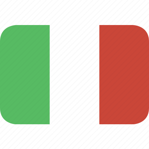 italy, rectangle, round icon