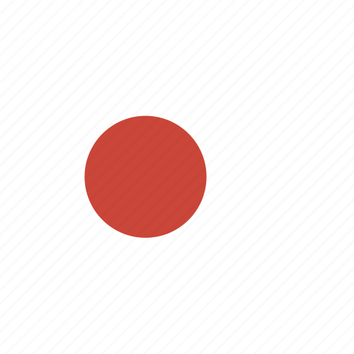 japan, rectangle, round icon