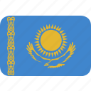 kazakhstan, rectangle, round icon
