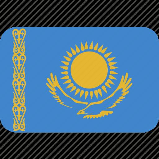 kazakhstan, rectangle, round icon