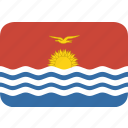 kiribati, rectangle, round icon