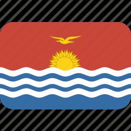 kiribati, rectangle, round icon