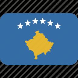 kosovo, rectangle, round icon