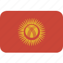 kyrgystan, rectangle, round icon
