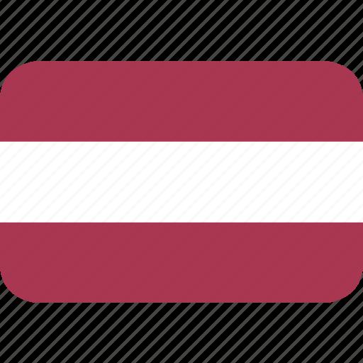 latvia, rectangle, round icon