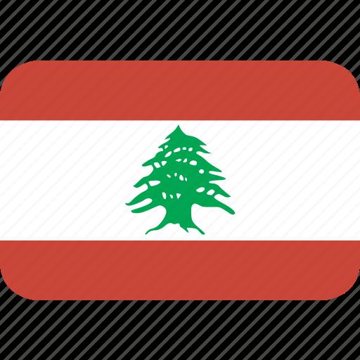 lebanon, rectangle, round icon