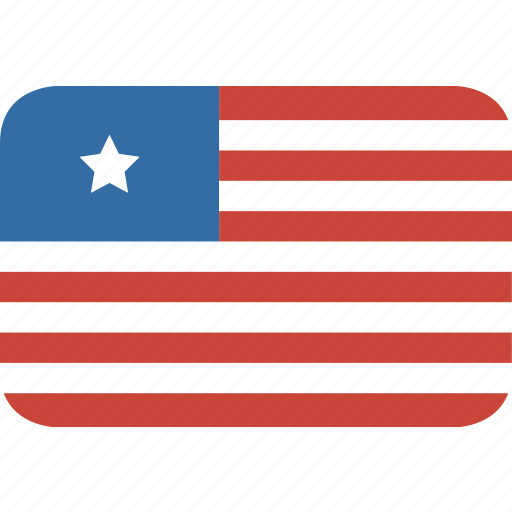 liberia, rectangle, round icon