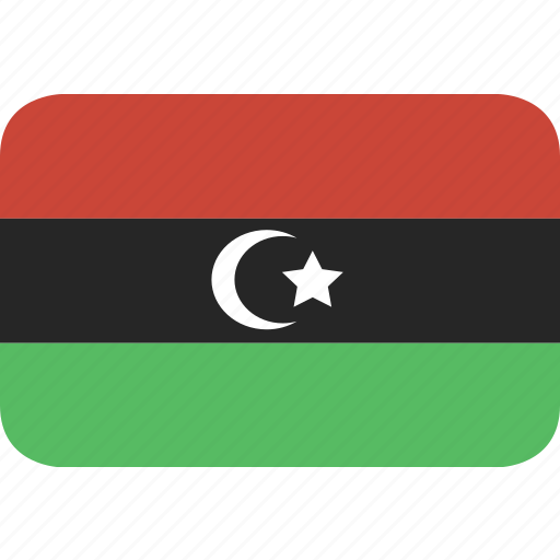 libya, rectangle, round icon
