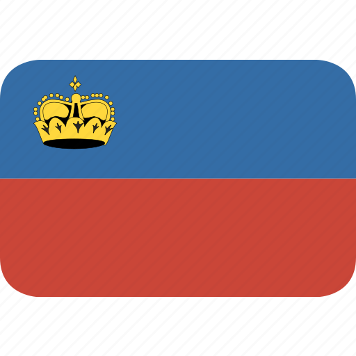 liechtenstein, rectangle, round icon